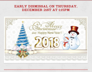 graphic with early dismissal text