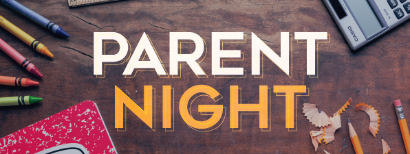 "graphic with text ""parent night"""
