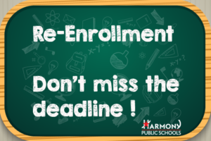 "graphic with the text ""Re-Enrollment Don't miss the deadline"""